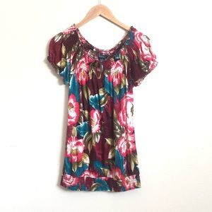 Lucky brand tropical floral blouse D31